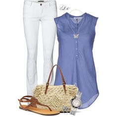 Farb- und Stilberatung mit www.farben-reich.com # Periwinkle & White, created by tmlstyle on Polyvore