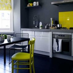 yellow stew: very modern and bold kitchen