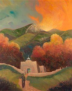 """The Fiddler"" Ed Sandoval - Blue Rain Gallery / Santa Fe New Mexico"