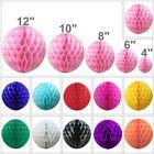 """4"""" 6"""" 8"""" 10"""" 12"""" Honeycomb Balls Tissue Paper Lanterns Table Centrepiece Garland"""