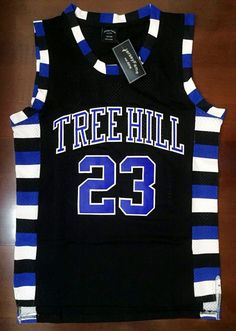 Nathan Scott #23 One Tree Hill Ravens Basquete costurado Jersey-Preto in Esportes - memorabilia, cartões e lojas para fãs, Artigos para fãs: roupas e souvenirs, Basquete - outros | eBay