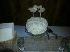 Wedding cake I made for a friend.