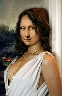 Lisa in white Gala Dress Monnalisa Kids, Lisa Gherardini, Mona Friends, La Madone, Mona Lisa Parody, Mona Lisa Smile, Gala Dresses, Jolie Photo, Funny Art