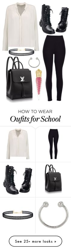 """""""Friday - 8:23 - school"""" by april-baby123 on Polyvore featuring Maje, Christian Louboutin, Miss Selfridge and LULUS"""