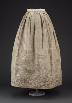 Quilted Petticoat, American, about 1840 or earlier, MFA Boston
