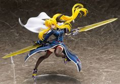 Fate T. Harlaown 1/8th Scale Figure Magical Girl Lyrical Nanoha Force. Last day to Pre-Order: March 22nd 2016  From 'Magical Girl Lyrical Nanoha Force' comes a figure of Fate T.  Harlaown. Her weapon from the series 'Bardiche Assault' is included in both  Riot Zanber II and Riot Blade II form. The Riot Blade II form can also be  displayed in both double blade form and dual-wielding form using  interchangeable arm parts, allowing for lots of different variations. Enjoy  the impressive size…