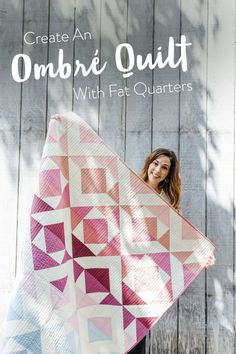 Create an Ombré Quilt with Fat Quarters - Suzy Quilts : Change your favorite quilt pattern into an ombré quilt by converting yardage into fat quarters. Included is a half square triangle conversion chart and tutorial! Modern Quilting Designs, Modern Quilt Patterns, Sewing Patterns, Quilting Patterns, Fat Quarter Quilt Patterns, Quilt Designs, Jewelry Patterns, Quilting Ideas, Print Patterns