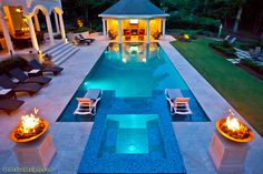 Travertine Pool Deck Design Ideas, Pictures, Remodel, and Decor - page 4 Backyard Pool Designs, Swimming Pool Designs, Swimming Pools, Backyard Ideas, Pool Landscaping, Pool Spa, Swimming Pool Architecture, Landscape Architecture, Architecture Design