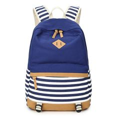 School Bags For Teenagers Cute Canvas Backpacks For Teenage Girls Striped Printing Women's Backpack School Bag For Girls-in School Bags from Luggage & Bags on Aliexpress.com | Alibaba Group