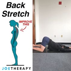 Spinal Decompression Stretch [ELDOA] - ☝️ELDOAs were created by Guy Voyer a French Osteopath and are postural self-normalizing… Posture Fix, Posture Exercises, Back Pain Exercises, Improve Posture, Scoliosis Exercises, Bad Posture, Fitness Workouts, Yoga Fitness, At Home Workouts