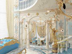Дизайн интерьера, дизайн спальни, элитный дизайн интерьеров, стиль рококо, авторский дизайн интерьеров