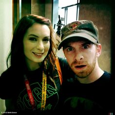 Seth Green's photo: Comicon collision! Me & the institution @feliciaday cross during a brief transit #SDCC