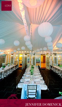 Our White paper lantern style at Dumbarton House - photo by Love Life Images