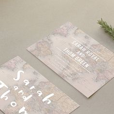 This simple, stylish and modern wedding stationery would be perfect for the couple that love to travel!