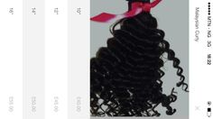 "Our Malaysian curly. from 10"" - 28"" great hair for summer. order now!"