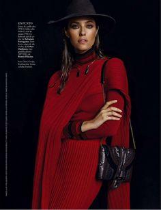 """Style Power"" Nadejda Savcova for ELLE Spain September 2015"