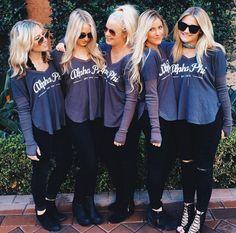 Alpha Phi at Arizona State University Phi Sigma Sigma, Delta Phi Epsilon, Kappa Kappa Gamma, Pi Beta Phi, Alpha Sigma Alpha, Alpha Chi Omega, Delta Gamma, Alpha Phi Shirts, Sorority Shirts