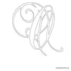 Calligraphy Letter Stencil O