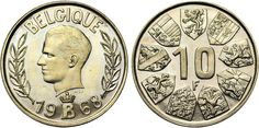 Baudouin I. Essai 10 francs, 1968 FR, Dionant de Caceres, Carlos.