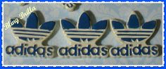 ADIDAS  new  Flatback Cabochon for Decoden 2 Pieces by BlingBrilla, $3.30-->phone decoration, scrapbooking, crafts, make into magnet,  etc.