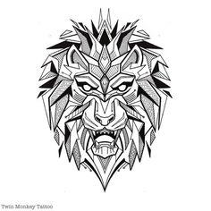 geometric lion drawing - Pesquisa Google