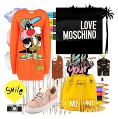 """Без названия #32"" by mashulya-bobkova ❤ liked on Polyvore featuring Cotton Candy, Dot & Bo, Moschino and Giuseppe Zanotti"
