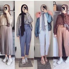 Modest Fashion Hijab, Modern Hijab Fashion, Korean Girl Fashion, Street Hijab Fashion, Casual Hijab Outfit, Hijab Fashion Inspiration, Islamic Fashion, Teen Fashion Outfits, Muslim Fashion