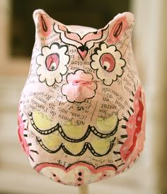Paper mache owl, this is fantastic!