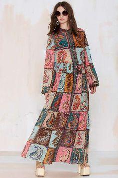 Vintage Jean Patou Emilia Chiffon Dress #streetstyle