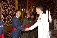 SM el Rey Felipe VI en las audiencias militares a Generales, Brigadas, Coroneles y Capitanes de Navío.  09-06-2016