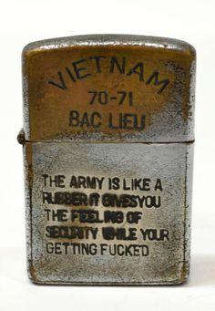 vietnam zippo lighters engravings | 484: (3) WORN VIETNAM ERA ZIPPO LIGHTERS WITH ENGRAVING : Lot 484