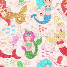 Mermaids Stock Photos, Illustrations and Vector Art - Page 5 | Depositphotos®