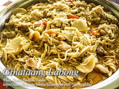 Ginataang Labong (Bamboo Shoots with Coconut Cream) Pinoy Food, Filipino Food, Filipino Recipes, Vegetable Dishes, Vegetable Recipes, Smoked Pork Roast, Lechon Kawali, Ginger Pork, Coconut Cream