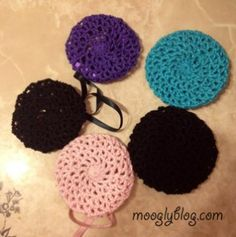 All Too Perfect Crocheted Bun Covers: make any size! Free pattern on mooglyblog.com
