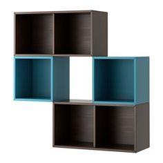 IKEA - VALJE, Veggskap, , Du kan lage din egen unike løsning ved å kombinere skap i ulike størrelser fritt, med eller uten dører og skuffer.Monteringen går raskt og enkelt siden trepluggen klikkes i de forborede hullene.Gjør oppbevaringen optimal med PALLRA esker eller minikommode.