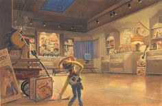 Disney and Pixar Concept Art - Toy Story 2 Toy Story Series, Toy Story Movie, Pixar Concept Art, Disney Concept Art, Matte Painting, Disney And Dreamworks, Disney Pixar, Walt Disney, Studio Ghibli