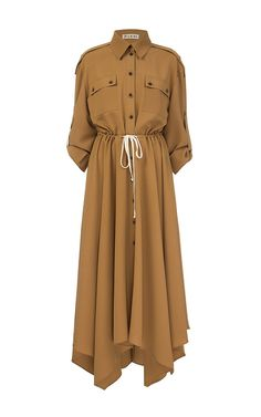 Trench coat woman online in different sizes and colors. We at FLOW the Label offers you high quality and latest Trench coat for women online.Brown Midi Dress with Wedges and Shoulder Straps Abaya Fashion, Muslim Fashion, Fashion Dresses, Trenchcoat Women, Most Beautiful Dresses, Long Shirt Dress, Mode Hijab, Brown Fashion, Coat Dress