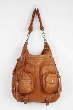 BDG Harriett Double-Pocket Convertible Leather Bag #urbanoutfitters