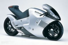 One of the stars of the 1986 Tokyo Motor Show was the Suzuki Nuda concept. The styling attracted a huge amount of attention, and unlike most 20-year-old concept studies, still looks fresh today. The Nuda was reputedly operational and rideable, propelled by the DOHC in-line four GSX-R750 engine; it had two-wheel-drive, with power transmitted via shaft drives, and the front wheel was hub-steered in the Bimota fashion. Otherwise, details about this machine are surprisingly hard to find.