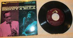 45 RPM Benny Goodman & Ella Fitzgerald RCA Victor Record, EPA-5100 Red Label #BigBandSwing