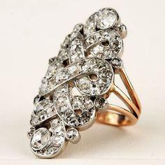 Gold, Platinum, and Diamond Dress Ring circa 1910