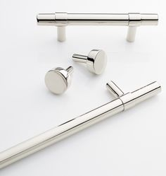 """Sommerville collection: drawer pulls in 3"""", 4"""", 5"""", 6"""", 12"""" and 18"""". Knob and hook also available. PN, BN, ORB"""