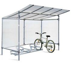 Abri cycles alu 5 places - Extérieur - Abris urbains Bike Storage, Bike Rack, Aluminium, Shelter, Gazebo, Bicycle, Outdoor Structures, Sarl, Google Search