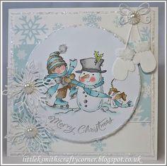 Little K Smith's Crafts Christmas Snowman, Handmade Christmas, Christmas Holidays, Christmas Ideas, Holiday Cards, Christmas Cards, Snowman Cards, Weird Holidays, Marianne Design