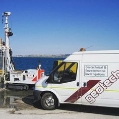 Oh we do like to drill beside the seaside! It's always great to take a Comacchio rig out in the sun #drilling #rig #MachineMonday