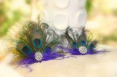 Mini Peacock Fan Fascinator Hair Comb OR Pin by sofisticata, Custom made colors! http://sofisticata.etsy.com