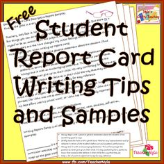 How to Write up Student Report Cards