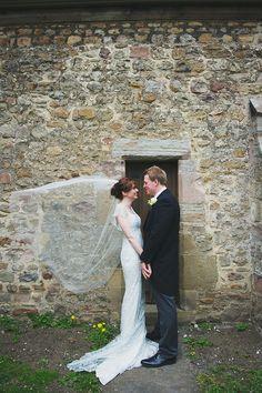 Windswept veil. Photography by nicolathompsonphotography.co.uk