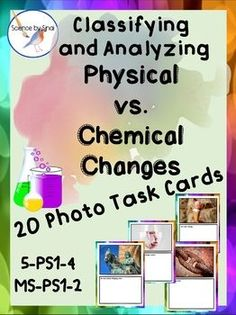 Are you looking for an activity that is more than just grouping events into either physical or chemical changes? Third Grade Science, Middle School Science, Elementary Science, Science Classroom, Teaching Science, Teaching Ideas, Upper Elementary, Classroom Activities, Science Resources