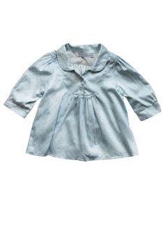 Little Babushka - Baby blue dotted shirt